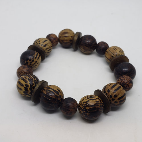 Wooden Wrist Wear with Circular Beads
