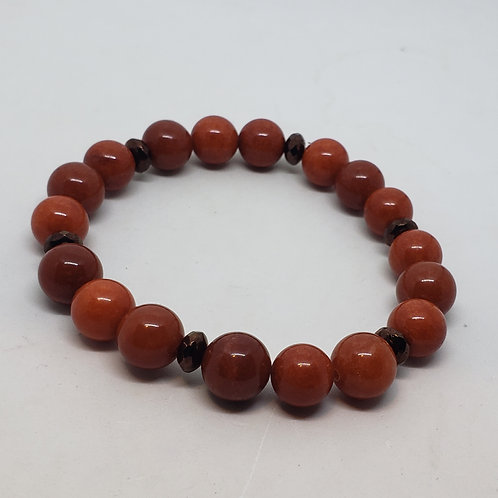 Blood Orange Beaded Wrist Wear
