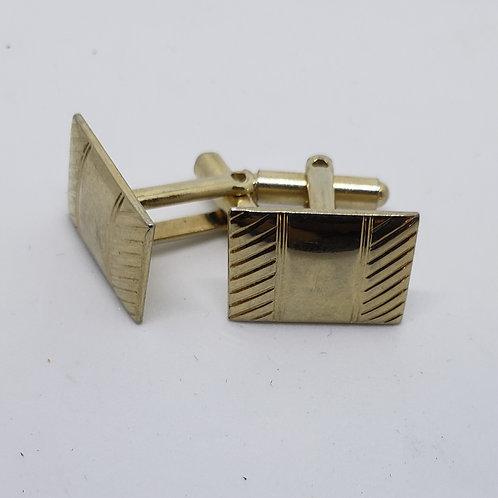 Vintage Gold Designed, Rectangular Cufflinks