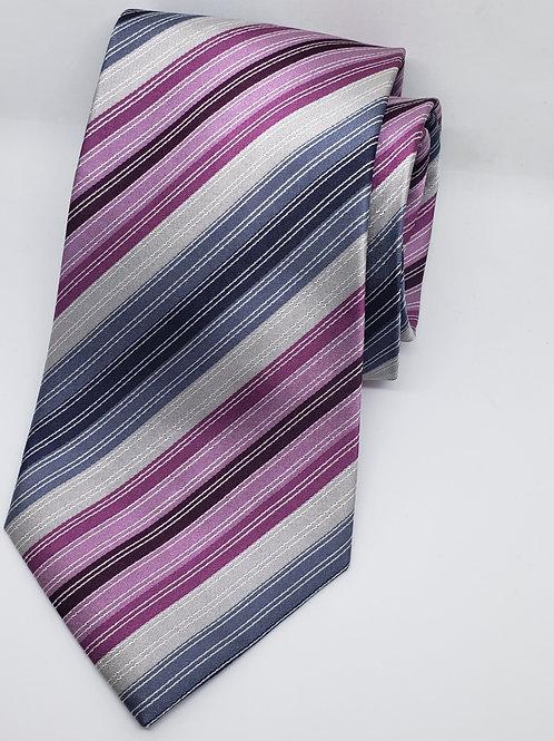 Multicolor, Black, Red, Pink, Grey, Purple Tie
