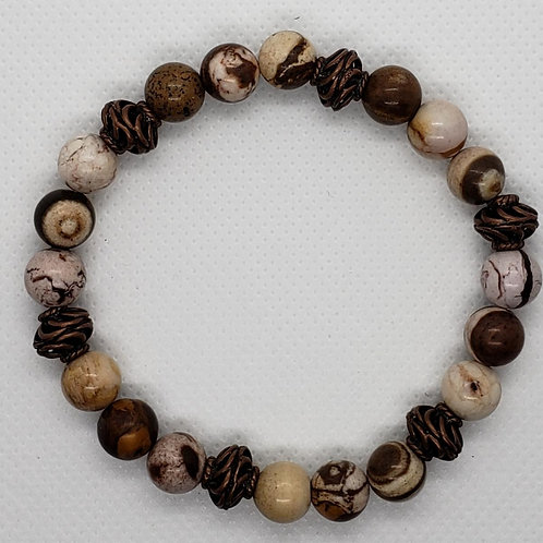 Marbled Brown and Tan Wrist Wear