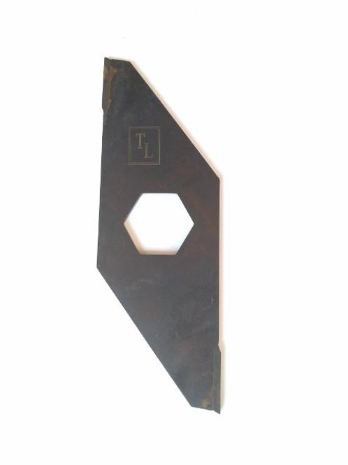 Tungsten tipped vertimowing single blade