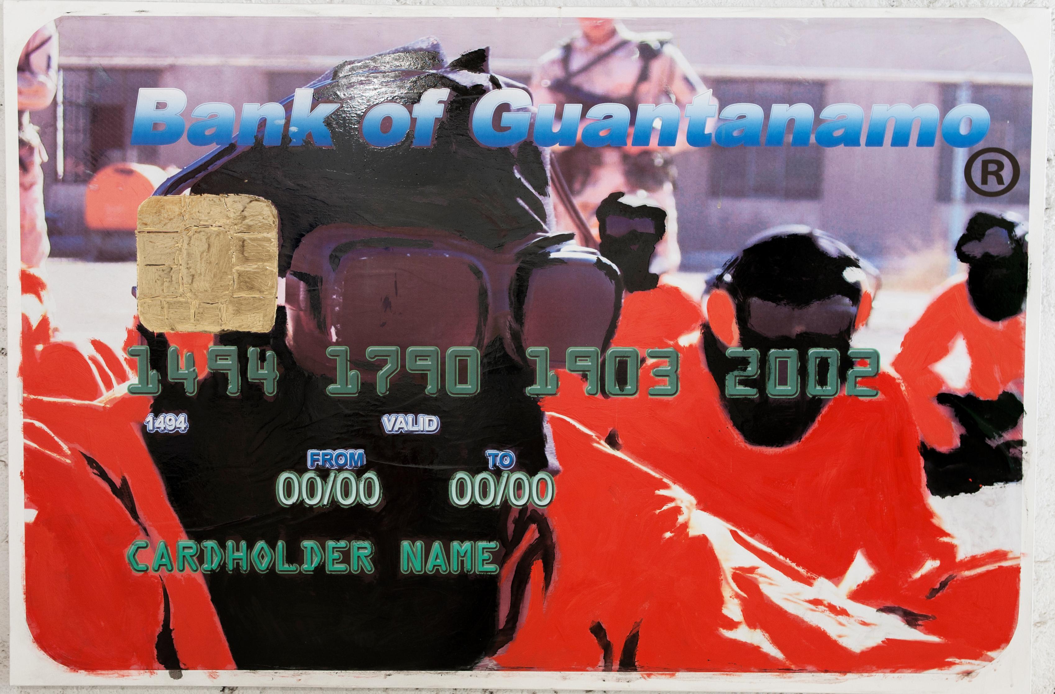 BANK OF GUANTANAMO, 2010-2012, Mixed media on canvas, cm 70x150