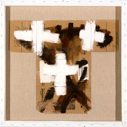 AP Ec 11_8, 2015, tecnica mista, cartone su tela rovesciata, cm 60 x 60