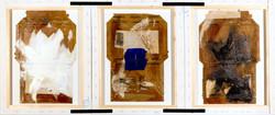 AP Ec 2_20-21, 2015, tecnica mista, cartone su 3 tele rovesciate e assemblate, cm 50 x 120