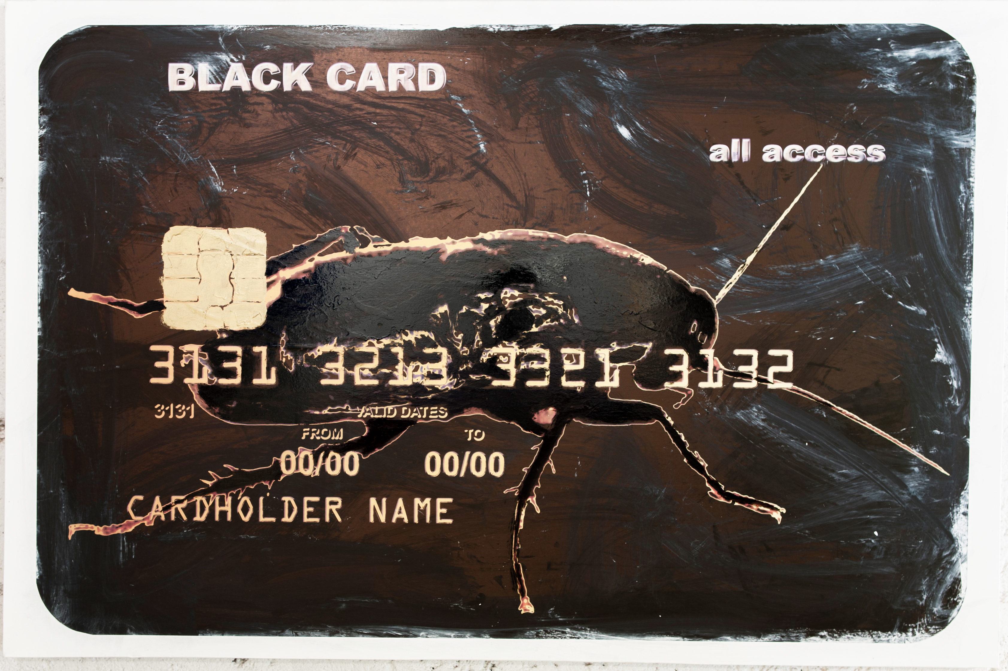 BLACK CARD - ALL ACCESS, 2010-2012, Mixed media on canvas, cm 70x150