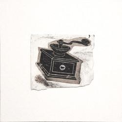 GRINDER, 2014, mixed media on canvas, cm 50x50