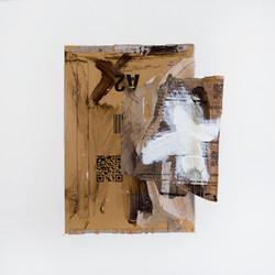 AP Ec 7_15, 2015, tecnica mista, cartone su carta, cm 50 x 50
