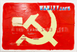VANITY CARD- Hammer And Sickle, 2012, Mixed media on canvas, cm 70x150