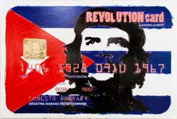 REVOLUTION CARD - Ernesto Guevara, 2012, Mixed media on canvas, cm 70x150