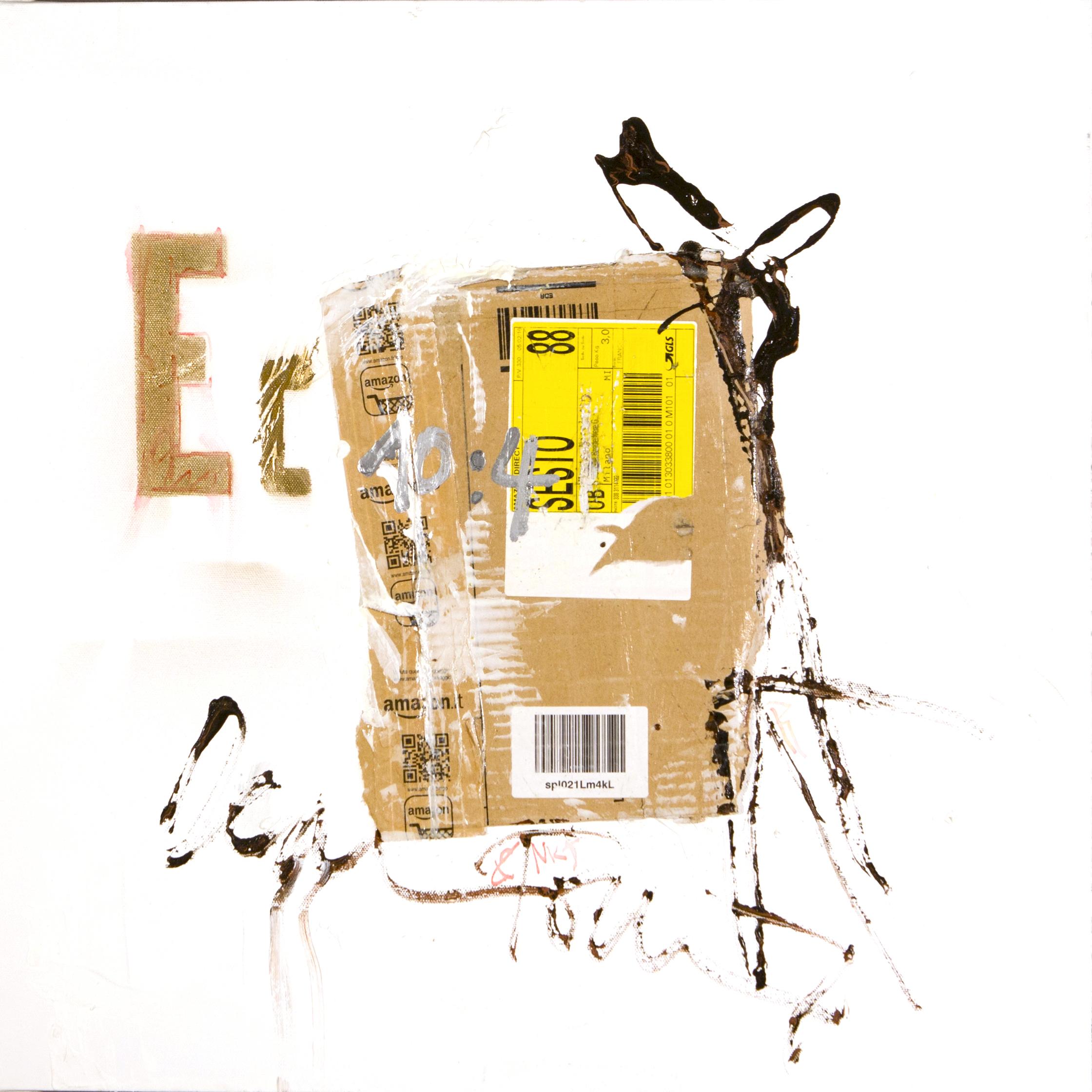 AP Ec 10_4, 2015, tecnica mista, cartone su tela, cm 60 x 60