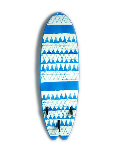 Vision Ignite Fish Beginner Foamie Surfboard Blue Triangles (Various Sizes)