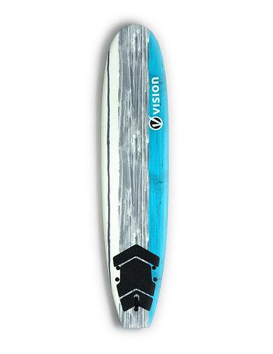 Vision Spark Beginner Foamie Surfboard Cyan  (Various Sizes)