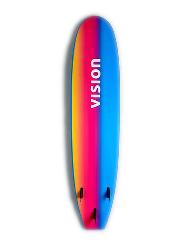 Vision Ignite Beginner Foamie Surfboard Psychedelic (Various Sizes)
