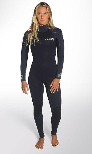 2019 C-Skins 4/3 Surflite  Women's Back-Zip