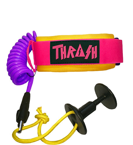 Thrash Bicep Leash Yellow/Pink/Purple