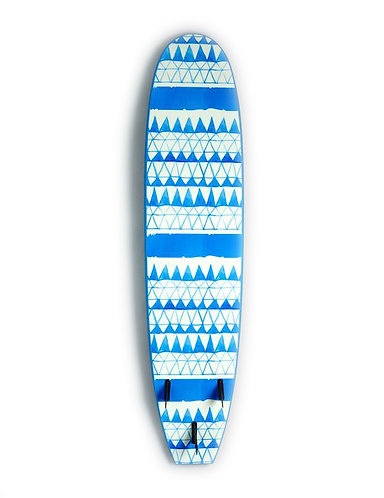 Vision Ignite Beginner Foamie Surfboard Blue Triangles (Various Sizes)