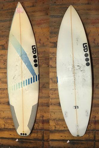 "LSD GT 6'4"" Thruster Surfboard"