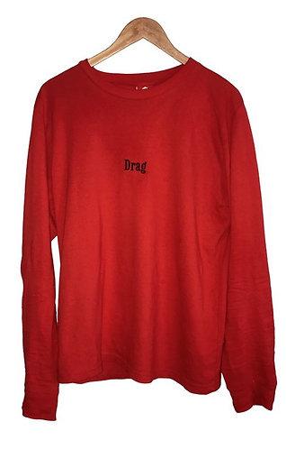 "Drag ""Marlboro"" Red Long-Sleeve T-Shirt"