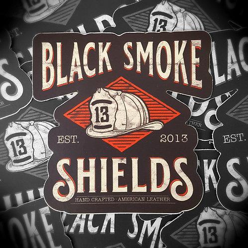 Black Smoke Shields logo decal