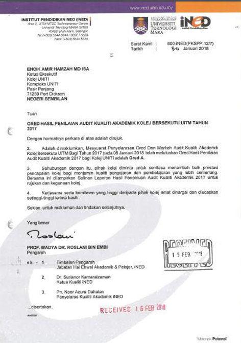 Penilaian Audit Kualiti Akademik Uniti oleh Uitm