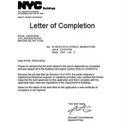 Letter of completion submit closeout documents and obtain loc altavistaventures Choice Image