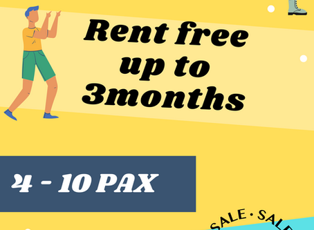 Up to 3 months Rental Free