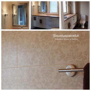 Kylpyhuoneen laatat ja kalusteet