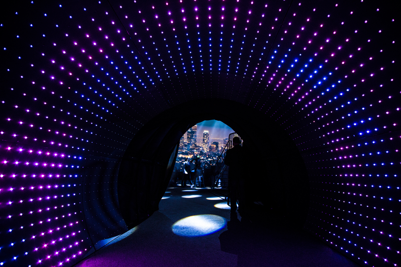 LED Tunnel into Live Event MIP