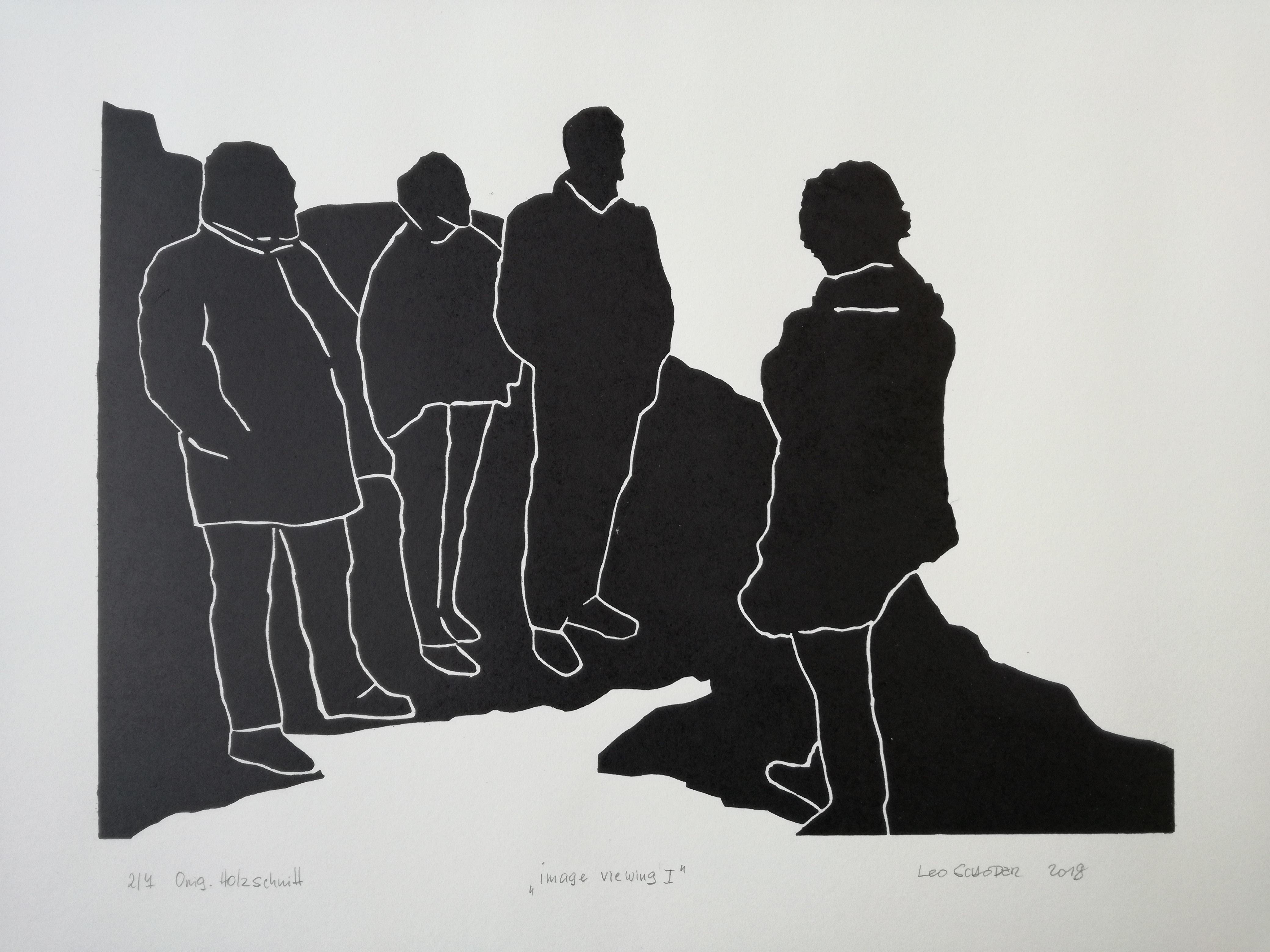 Leo Schoder image viewing 1 Holzschnitt.