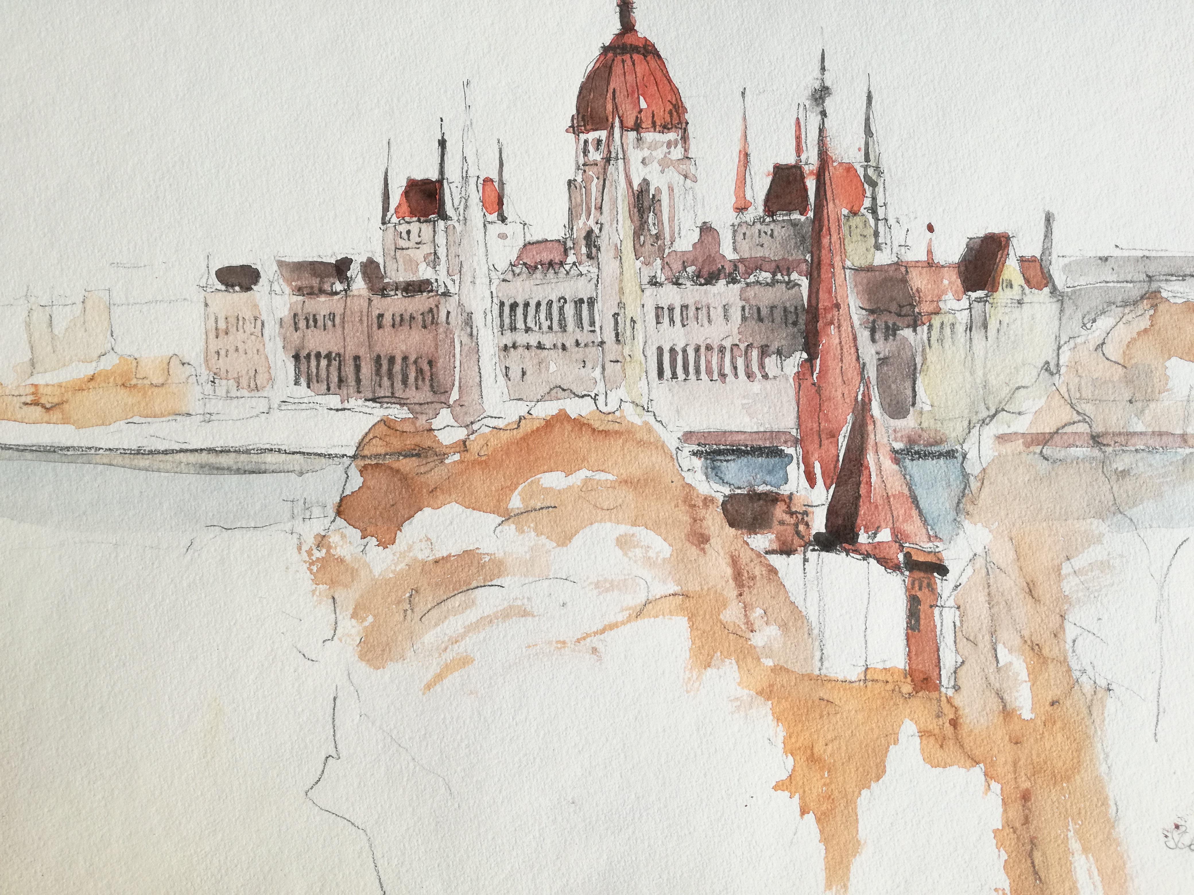 Leo Schoder Budapest Aquarell