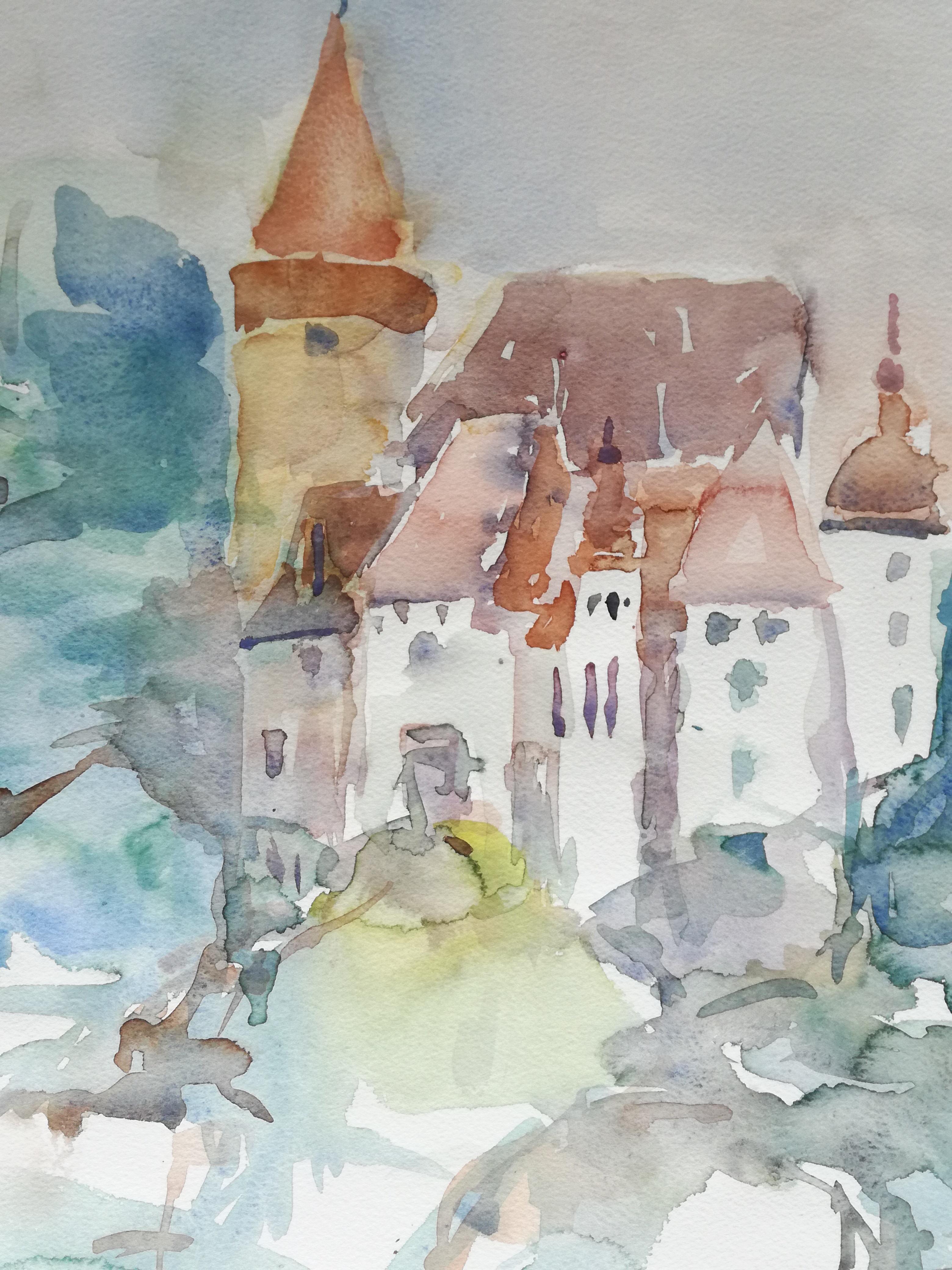 Leo Schoder     Burg Glam Aquarell