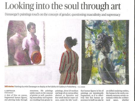 Danasegar's new exhibition at Kalinka in The Hindu !