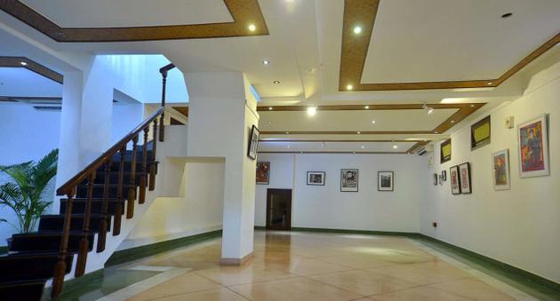 An inside view of the Kalinka Art Gallery in Puducherry. — Photos: S.S. Kumar