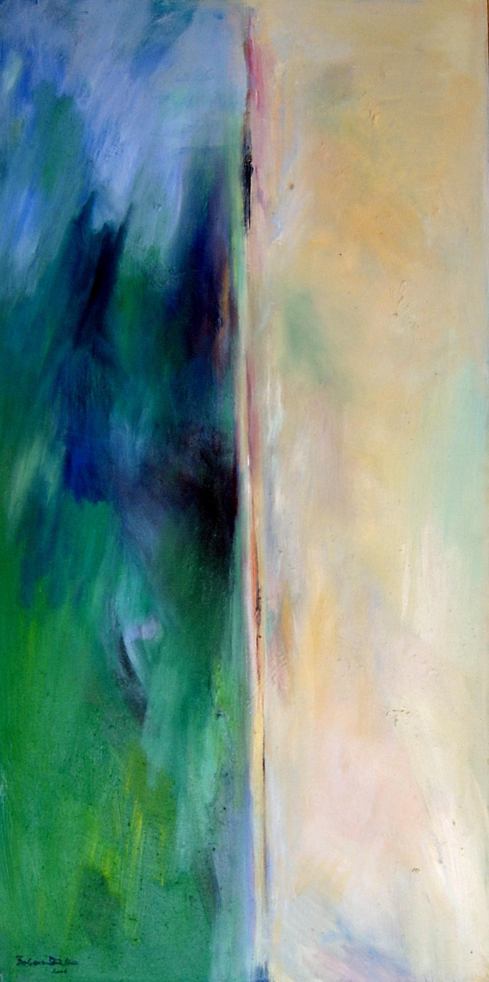 deviding line,oil-canvas,