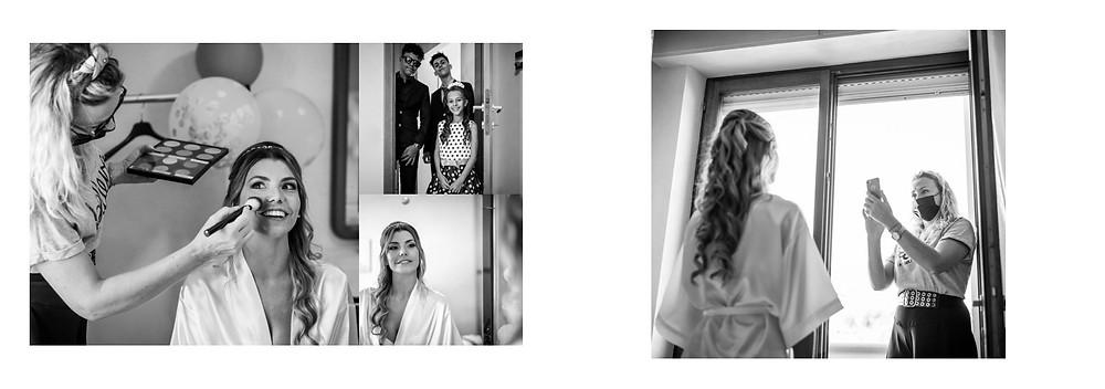 reportage matrimonio sardegna, matrimonio a carbonia, fotografie di matrimonio spontanee, ritratto fotografico bianco e nero, preparativi della sposa