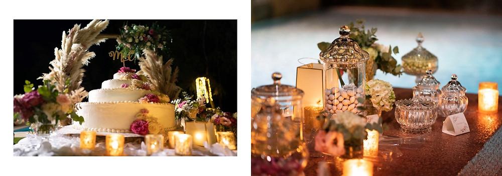 matrimonio in spiaggia Sardegna Pula Nora, ricevimento al flamingo, dettagli floricoltura loi
