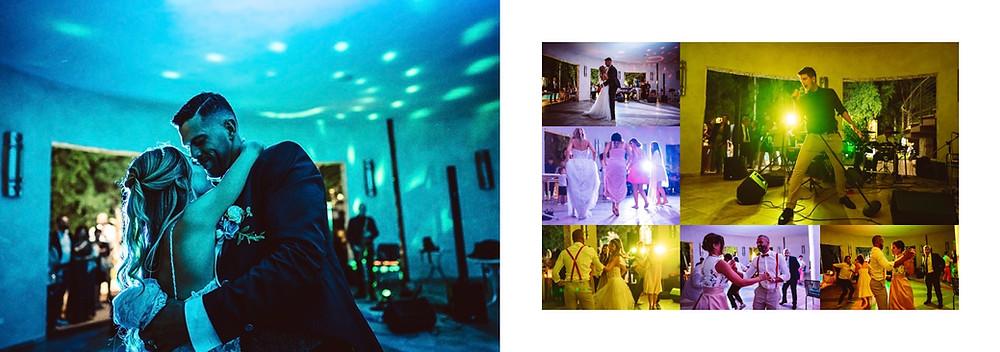 matrimonio in spiaggia Sardegna Pula Nora, ricevimento al flamingo, t-Brothers Band, balli