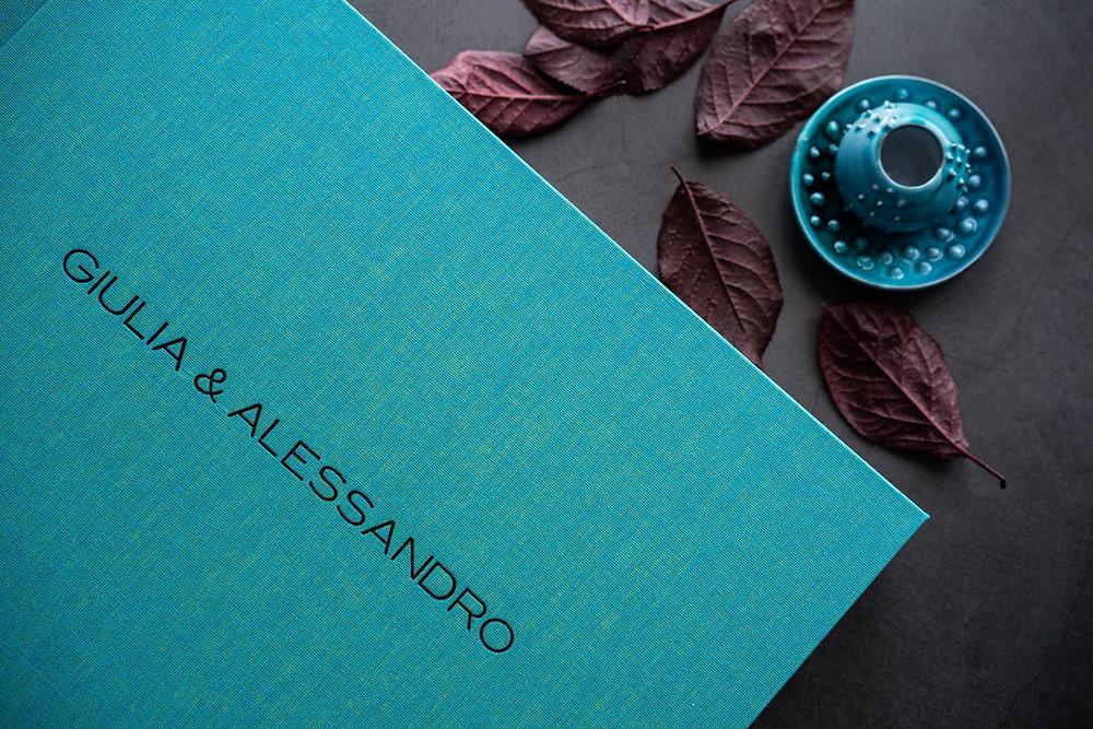 album di matrimonio color acquamarina Cagliari Sardegna