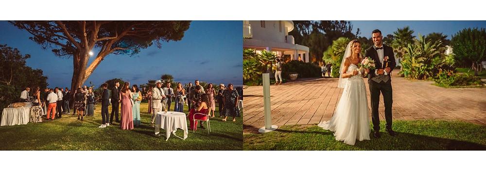 matrimonio in spiaggia Sardegna Pula Nora, ricevimento al flamingo