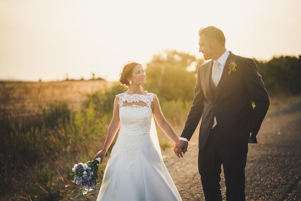 foto al tramonto, allestimenti sara events, matrimonio borgo medievale tratalias, matrimonio sardegna