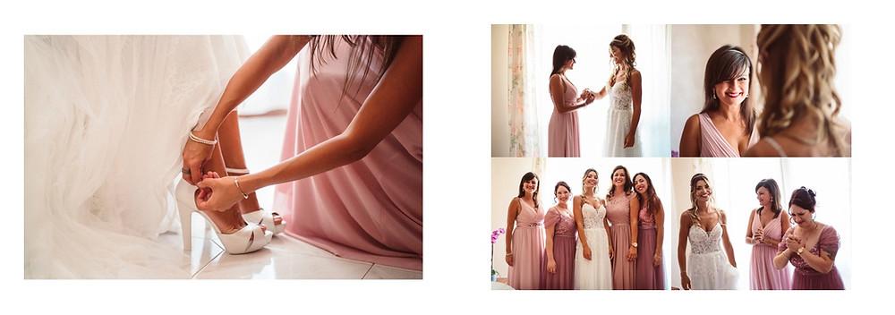 reportage matrimonio sardegna, matrimonio a Gonnesa, fotografie di matrimonio spontanee, preparativi della sposa, damigelle