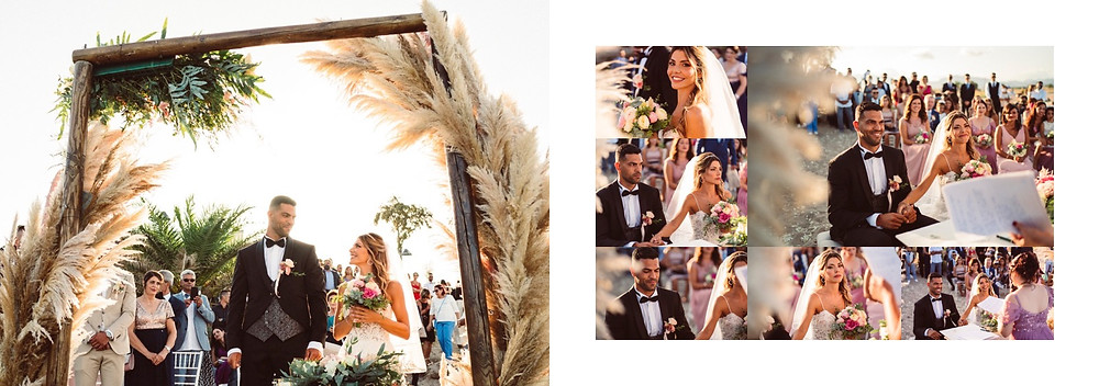 matrimonio in spiaggia Sardegna Pula Nora, allestimenti floricoltura loi capoterra