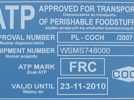 Certyfikat ATP a kary nakładane przez organy kontrolne