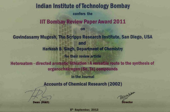 IIT Bombay - Best Review Paper Award