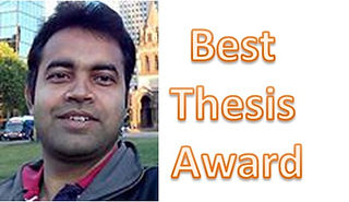Debasish Manna wins Best Thesis Award