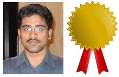 Santanu Mondal receives Dr A. Nagaraja Rao Medal