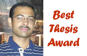 Amit A. Vernekar wins the Best Thesis Award