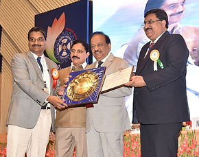 Mugesh receives the Shanti Swarup Bhatnagar Prize for the year 2012