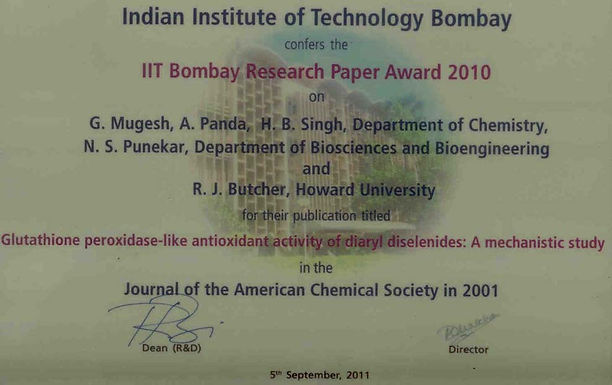 IIT Bombay Best Research Paper Award
